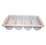 Winco 4 Compartment Cutlery Bins, (PL-4B)