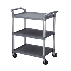 "Thunder Group Gray 3-Tier Bus Cart - 33.5"" x 16"""