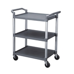 "Thunder Group Gray 3-Tier Bus Cart - 40.5"" x 19.75"""