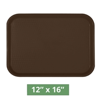 "Thunder Group Fast Food Table Tray - Brown - 12"" x 16"" - 12-piece Case (PLFFT1216BR)"