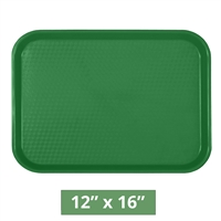 "Thunder Group Fast Food Table Tray - Green - 12"" x 16"" - 12-piece Case (PLFFT1216GR)"