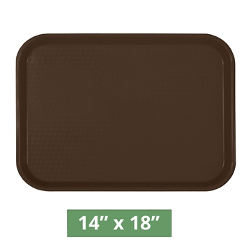"Thunder Group Fast Food Table Tray - Brown - 14"" x 18"" - 12-piece Case (PLFFT1418BR)"