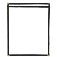 Thunder Group Single Pocket Menu Cover, Black Trim (PLMENU-1BL)