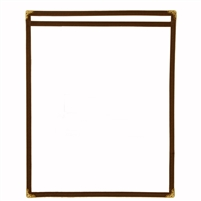 Thunder Group Single Pocket Menu Cover, Brown Trim (PLMENU-1BR)
