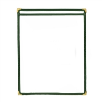 Thunder Group Single Pocket Menu Cover, Green Trim (PLMENU-1GR)