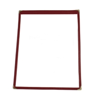 Thunder Group Single Pocket Menu Cover, Maroon Trim (PLMENU-1MA)
