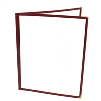 Thunder Group Double Pocket Menu Cover, Maroon Trim (PLMENU-2MA)