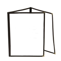 Thunder Group Tri-Fold Pocket Menu Cover, Black Trim (PLMENU-3BL)