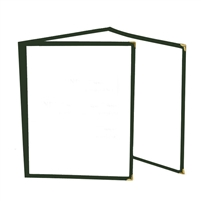 Thunder Group Tri-Fold Pocket Menu Cover, Green Trim (PLMENU-3GR)