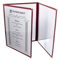 Thunder Group Tri-Fold Pocket Menu Cover, Maroon (PLMENU-3MA)