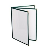 "Thunder Group Menu Cover - 3 Pocket Book Fold, 8-1/2"" x 11"", Green (PLMENU-L3GR)"