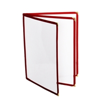 "Thunder Group Menu Cover - 3 Pocket Book Fold, 8-1/2"" x 11"", Maroon (PLMENU-L3MA)"
