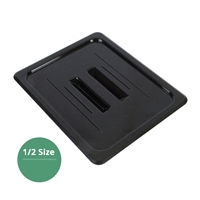 Thunder Group Black Polycarbonate Food Pan Cover, Half Size, Solid, (PLPA7120CBK)