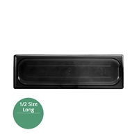 Thunder Group Black Polycarbonate Food Pan Cover, Half Size Long, Solid, (PLPA7120LCBK)