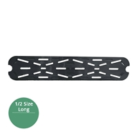 Thunder Group Black Polycarbonate Drain Tray, Half Size Long, (PLPA7120LDSBK)
