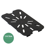 Thunder Group Black Polycarbonate Drain Tray, Quarter Size, (PLPA7140DSBK)