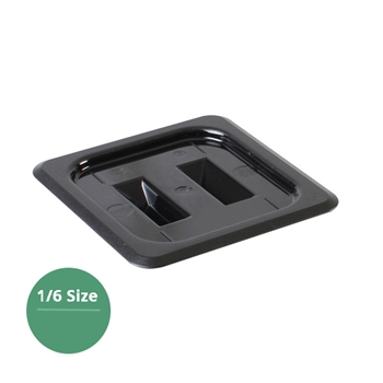 Thunder Group Black Polycarbonate Food Pan Cover, Sixth Size, Solid, (PLPA7160CBK)