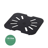 Thunder Group Black Polycarbonate Drain Tray, Sixth Size, (PLPA7160DSBK)