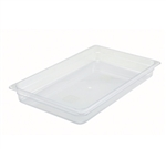 "Clear Polycarbonate Food Pan NSF Rated - Full Size, 2.5"" Deep"