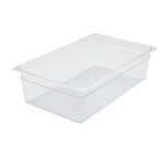 "Clear Polycarbonate Food Pan NSF Rated - Full Size, 6"" Deep"