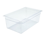 "Clear Polycarbonate Food Pan NSF Rated - Full Size, 8"" Deep"