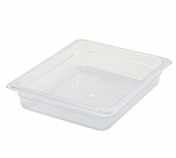 "Thunder Group Clear Polycarbonate Pan - Half Size, 2.5"" Deep (PLPA8122)"