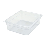"Thunder Group Clear Polycarbonate Pan - Half Size, 4"" Deep (PLPA8124)"