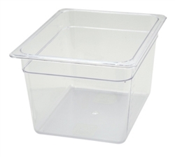 "Thunder Group Clear Polycarbonate Pan - Half Size, 8"" Deep (PLPA8128)"