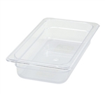 "Thunder Group Clear Polycarbonate Pan - 1/3 Size, 2.5"" Deep (PLPA8132)"