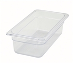 "Thunder Group Clear Polycarbonate Pan - 1/3 Size, 4"" Deep (PLPA8134)"