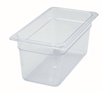 "Thunder Group Clear Polycarbonate Pan - 1/3 Size, 6"" Deep (PLPA8136)"