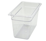 "Thunder Group Clear Polycarbonate Pan - 1/3 Size, 8"" Deep (PLPA8138)"