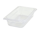 "Thunder Group Clear Polycarbonate Pan - 1/4 Size, 2.5"" Deep (PLPA8142)"