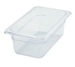 "Thunder Group Clear Polycarbonate Pan - 1/4 Size, 4"" Deep (PLPA8144)"
