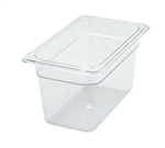 "Thunder Group Clear Polycarbonate Pan - 1/4 Size, 6"" Deep (PLPA8146)"