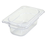 "Thunder Group Clear Polycarbonate Pan - 1/9 Size, 2.5"" Deep (PLPA8192)"