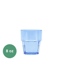 Thunder Group Diamond Tumbler - 8 Oz., Blue Color (PLPCTB108BL)