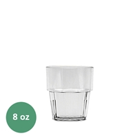 Thunder Group Diamond Tumbler - 8 Oz., Clear Color (PLPCTB108CL)