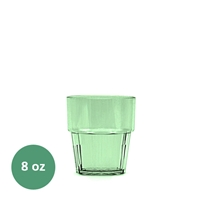 Thunder Group Diamond Tumbler - 8 Oz., Green Color (PLPCTB108GR)