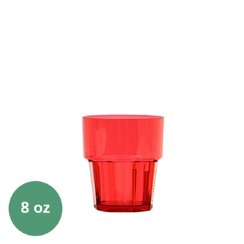 Thunder Group Diamond Tumbler - 8 Oz., Red Color (PLPCTB108RD))