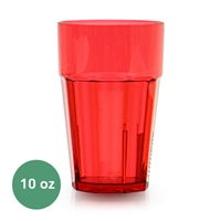 Thunder Group Diamond Tumbler - 10 Oz., Red Color (PLPCTB110RD)