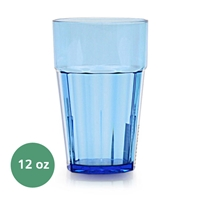 Thunder Group Diamond Tumbler - 12 Oz., Blue Color (PLPCTB112BL)