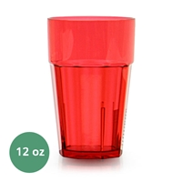 Thunder Group Diamond Tumbler - 12 Oz., Red Color (PLPCTB112RD)