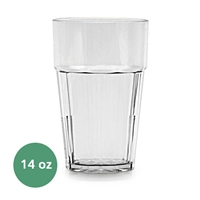 Thunder Group Diamond Tumbler - 14 Oz., Clear Color (PLPCTB114CL)