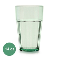 Thunder Group Diamond Tumbler - 14 Oz., Green Color (PLPCTB114GR)