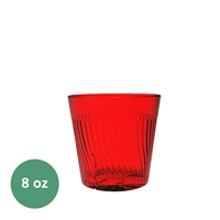 Thunder Group Belize Tumbler - 8 Oz., Red Color (PLPCTB308RD)