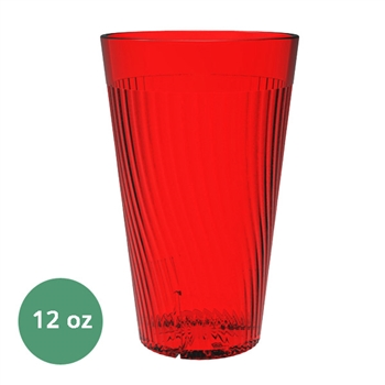 Thunder Group Belize Tumbler - 12 Oz., Red Color (PLPCTB312RD)