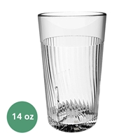 Thunder Group Belize Tumbler - 14 Oz., Clear Color (PLPCTB314CL)