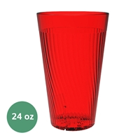 Thunder Group Belize Tumbler - 24 Oz., Red Color (PLPCTB324RD)