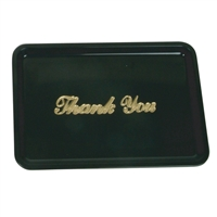 "Thunder Group Guest Check Tray With ""Thank You"" Message, Black Colored, Plastic, (PLPT046BL)"
